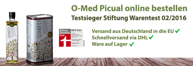 O-Med Picual Stiftung Warentest Sieger